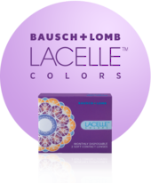 Bausch and Lomb Lacelle  Colours Monthly Disposable Lenses 2pcs
